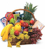 Classic Fruit and Gourmet Gift Basket $84.95 Same Day Delivery