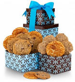 Double Delight Tower with One Dozen Cookies $19.95