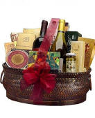 Deluxe Wine and Gourmet Gift Basket $149.95 Same Day Delivery