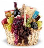 Elegance To Spare Wine Basket $109.95  Same Day Nationwide Delivery