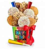 Happy Birthday Cookie Pail For Rolla