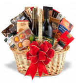 Premium Wine and Gourmet Gift Basket $149.95 Same Day Delivery